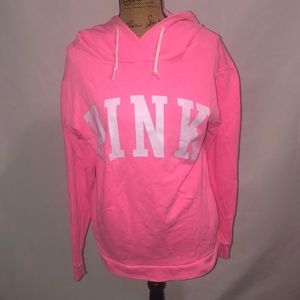 Victorias Secret Pink Tunic Hoodie Pullover S